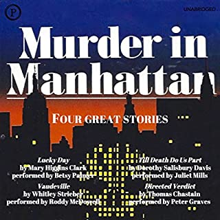 Murder in Manhattan audiobook cover art
