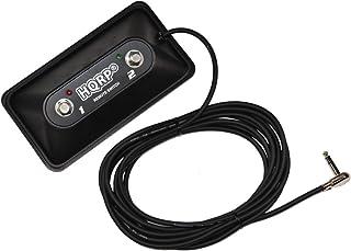 HQRP Interruptor de pie de amplificador de guitarra de 2 botónes para Fender 0071359000/0994058000 / FM 65 DSP/Champion 40 / Champion 100 amplificadores + HQRP Posavasos