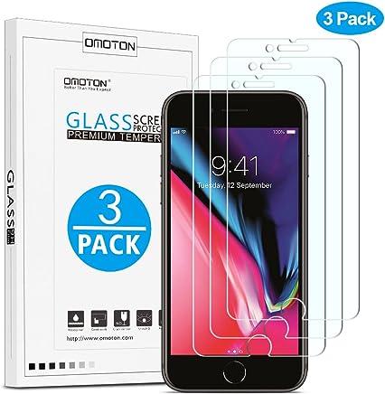 OMOTON [3 Stück] Panzerglas Schutzfolie für iPhone 8 Plus/iPhone 7 Plus [5,5 Zoll], 9H Härte, Anti-Kratzer, Anti-Öl, Anti-Bläschen