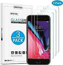 OMOTON [3 Stück] Schutzfolie für iPhone 8 Plus/iPhone 7 Plus [5,5 Zoll], mit Schablone,9H Härte,Anti-Kratzer,Anti-Öl,Anti-Bläschen