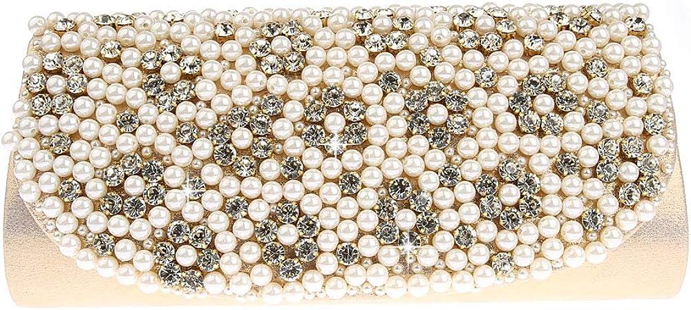 MLACE JIANUO Luxury Purse Clutch Bag Crystal Stone Evening Bag Evening Stone Bag