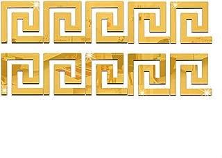 Mayfun Acrylic Hollow Wall Tile Mirror Stickers 4