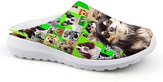 Pantuflas Unisex para Adultos con diseño de Perro, para el Tiempo Libre, de Malla