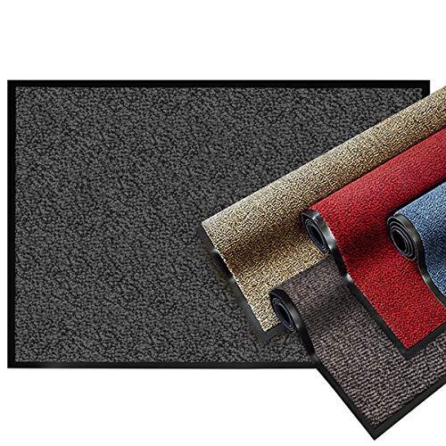 Zerbino Ingresso Casa - Tappeto Entrata Interno, Esterno - Tappeto Asciugapassi Testato - Blu e Nero - 60x90cm