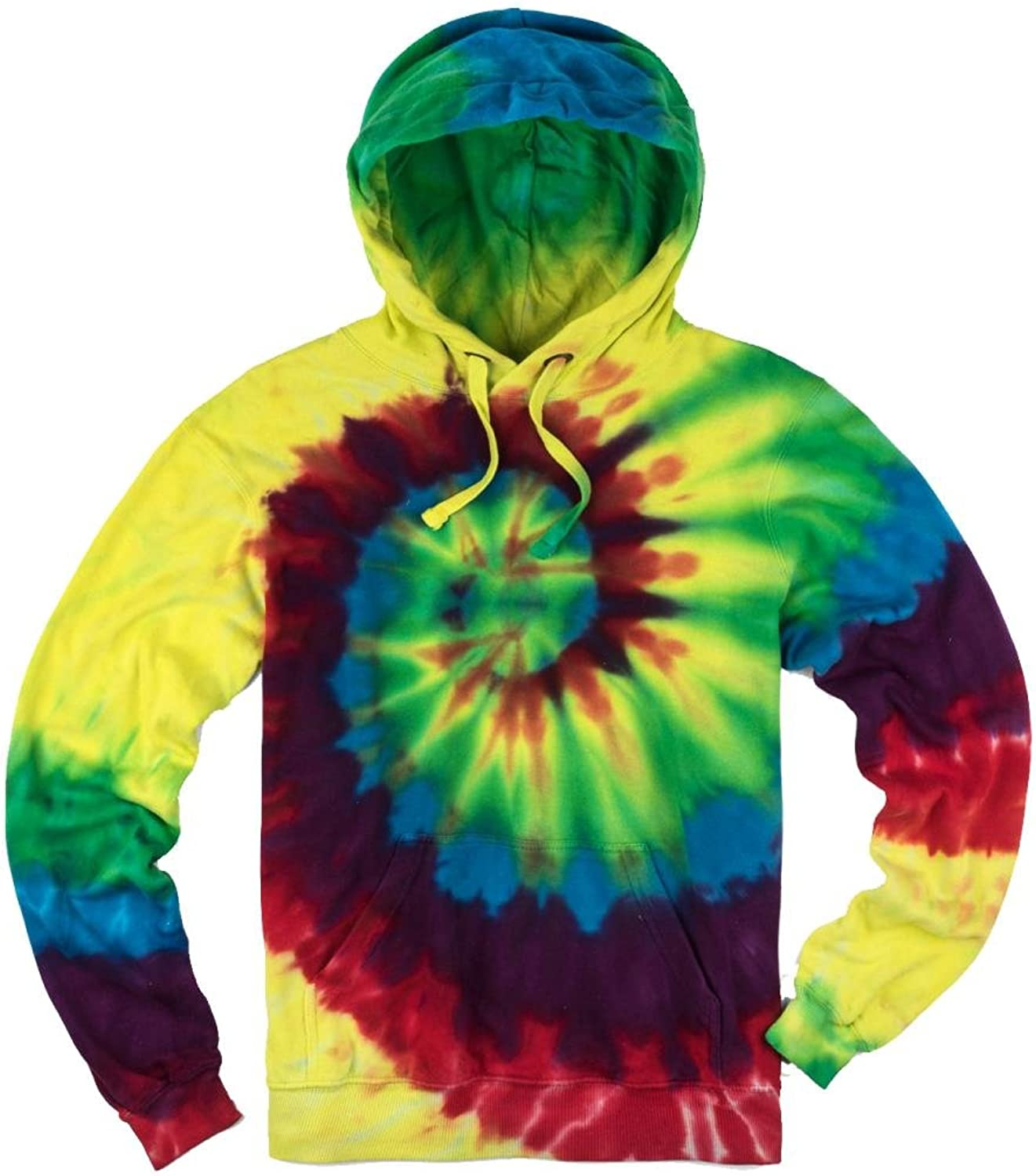 Yoga Clothing For You Mens Tie Dye Spiral Hoodie