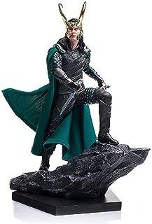 Bmjxnm The Avengers Raytheon 3 Gods Dusk Loki Rocky - Action Character Toy Model, 25cm Battle Scene Miracle Avengers Toy Statue.