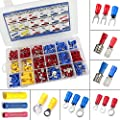 300 PCS Insulated Wire Electrical Connectors Assortment - Butt, Ring, Spade, Quick Disconnect - Crimp Marine Automotive Cable Terminals