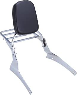 Iglobalbuy Backrest Sissy Bar with Luggage Rack for Suzuki Volusia Vl800 Boulevard C50