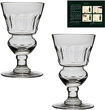 ALANDIA Absinth Glas Set | 2X Mundgeblasene Absinth-Gläser mit Reservoir | Inkl. Trinkanleitung