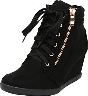 Best wedge heel sneakers women's shoes Reviews