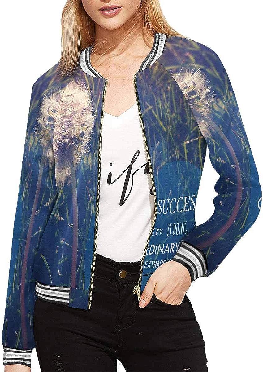 InterestPrint Women's Life Always Offers You Second Chance, It's Called Tomorrow Jacket Zipper Coat Outwear