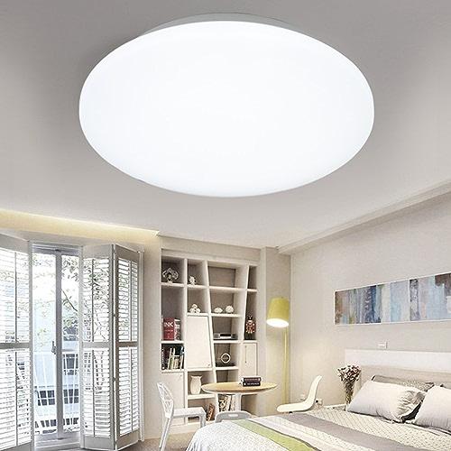 YLLXX Lampe De Plafond D'étude De Chambre Minimaliste Moderne Led Rond Lampe De Couloir De Balcon De Cuisine De Couloir De Lampe (34  34Cm)