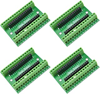 Aideepen 4pcs Nano V3.0 Controller Terminal Adapter Shield Expansion Board Nano AVR ATMEGA328P IO Module for Arduino