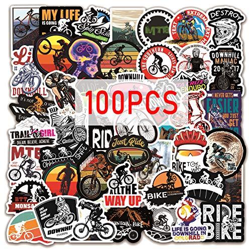 Bike Decals Stickers 100pcs Mountain Bike Sticker Pack BMX Stickers