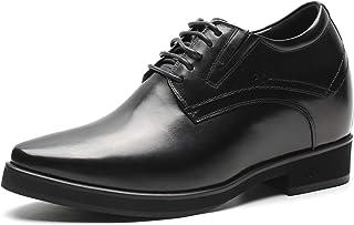 CHAMARIPA Zapatos Formales De Aumento De Altura para Hombres,10 CM Zapatos Negros De Hombre Alto Zapatos De Tacón Alto Zap...