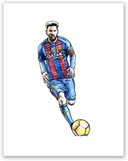 AtoZStudio A52 Lionel Messi Poster // Art Print // Soccer Wall Decor // Football Player // Famous Picture // Barcelona Fan Gift // Sport (11x14)