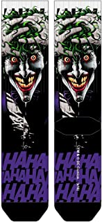 Joker Killing Joke Batman Premium Sublimated Crew Socks DC Comics, Sock Size: 10-13, Fits Shoe Size: 8-12