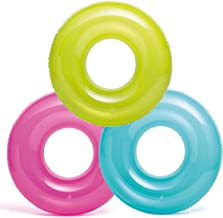 """Intex, 43227-2120 Pack of 3: 30"""" Transparent Tubes, Colors May Vary, Multi"""