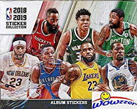 2018/19 Panini NBA Basketball MASSIVE 50 Pack Factory Sealed Sticker Box with 250 Brand New MINT Stickers! Look for Stickers of Lebron, Curry, Durant, Mitchell & of all your Favorite Stars! WOWZZER!