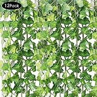 HUAESIN 2pcs Plantas Artificiales Colgantes Plantas Plastico Hierba Persa Enredaderas Artificiales Hoja Verde Follaje para Exterior e Interior Decoraci/ón de Pared Balcon Puerta Canasta