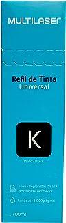 Refil de Tinta Universal Compatível com Epson, HP e Canon 100ml Preto - RF017, Multilaser