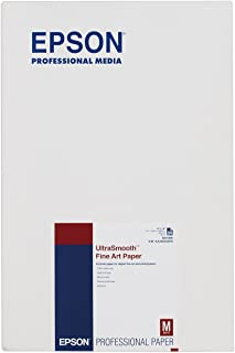 Epson UltraSmooth Fine Art Paper, 13 x 19 Inch, 25 sheets (S041896)
