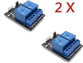 AptoFun - Tarjeta de interfaz de relé (2 canales, 5 V, para Arduino Raspberry Pi ARM AVR DSP PIC, 2 canales)