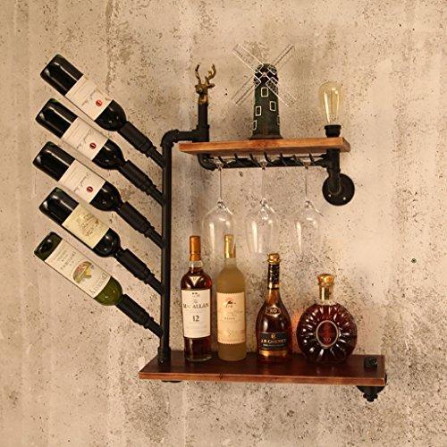 LHwine – Organizador de vinos en la Pared, la estantería de Almacenamiento para Botellas cuelga