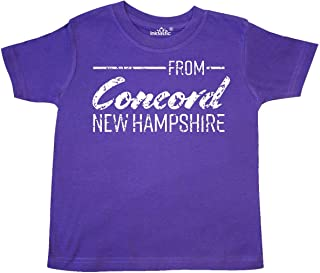 from Concord New Hampshire in White Distressed Text Toddler T-Shirt