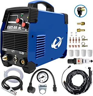 Plasma Cutter, CUT50 50 Amp 110V/220V Dual Voltage AC DC IGBT Cutting Machine with LCD..