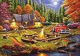 GZBJ Accesorios para Puzzles Tarde en el Campamento - 4000Piece Jigsaw Puzzle-4000 (105 * 148CM)