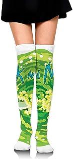 185, Socks,Ri-Ck Y Mor-Ty Calcetines De Compresión Casuales, Calcetines Encantadores Creativos Unisex Para Caminar En Bicicleta,65cm