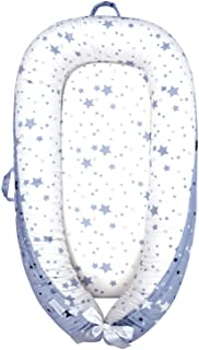 Baby Lounger, Baby Nest Stars Portable Super Soft Organic Cotton and Breathable Newborn Lounger - Perfect for Co-Sleeping