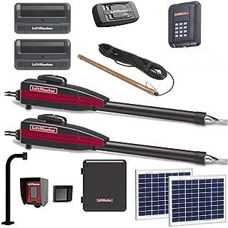 Liftmaster LA400PKGU Dual Solar Gate Sensor Opener Kit with Exit Wand, Wireless Keypad, 2 Free Liftmaster 811LM Remotes & Included 828 Gateway