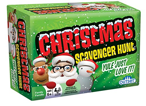 Christmas Scavenger Hunt Game  Includes 220 Cards with Holiday Themed Objects Found both Inside and Outside the Home Ages 6