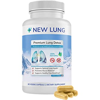 Lung Detox ⭐ Premium - Lung Cleanse ►Top Rated Herbal Lung Cleanse & Detox. Supports Healthy Lungs & Sinus from Harmful Effects of Smoggy Cities & Years of Smoking & Vaping. Natural. Non-GMO.