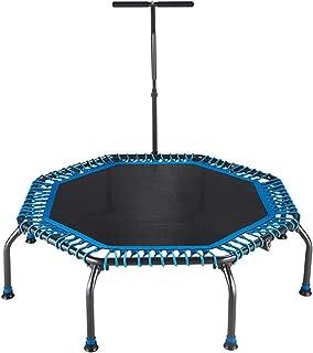 BIAOYU Studsmatta trampolin fitness mini åttkantig med armstöd justerbar studsmatta för barn och vuxna inomhus/utomhus trä...