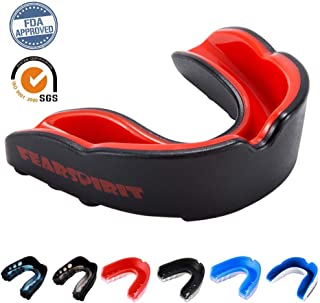 FearSpirit Sports Mouth Guard for Kids Youth/Adults-Mouthguard for Lacrosse, Basketball, Karate, Flag Football, Martial Arts, Rugby, Boxing, MMA, Hockey -Free Carrying Case for Mouthguard