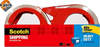 Scotch WHLZUUQD Heavy Duty Shipping Packaging Tape with Refillable Dispensers, 3