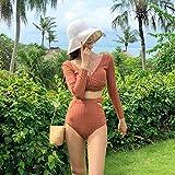 PJPPJH Beach Swimming, Women's Bikini Tops Women's Bikini Bottoms New Swimwear Women's Long-Sleeved Sunscreen Knitted...