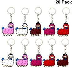 Finduat 20 Pieces Llama Alpaca Keychains for Alpaca Theme Party Favors, School Carnival Reward, Party Bag Gift Fillers