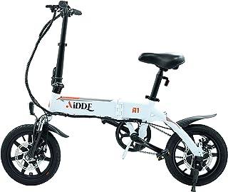AiDDE 電動アシスト自転車 折りたたみ 14インチ 走行距離80km サスペンション LCDディスプレイ シティサイクル USB充電ポート 自転車 小型 軽量 通勤 通学 アウトドア キャンプ 街乗り…