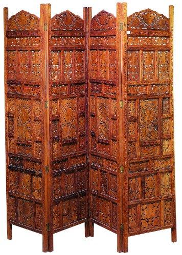 Deco 79 17278 Wood Screen Panels a Decorative Privacy Screen, Set of 4