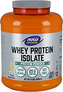 NOW Sports NOW Sports Whey Protein Isolate Powder Vanilla 5 lb