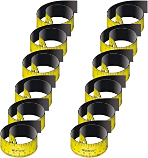 Westcott e-15990 00-règle flexible i, le dos magnétique 30 cm, jaune lot de 12/noir