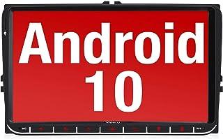 Vanku Android 10 Autoradio für VW Radio mit Navi 9 Zoll Touchscreen Unterstützt Qualcomm Bluetooth 5.0 DAB + WiFi 4G Android Auto 2 Din