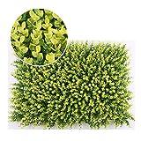 WAA Pianta di Simulazione 40X60CM Decorazione Murale Legno di Eucalipto Verde Prato Parete Verde Fiore di Plastica Scultura All'Aperto Paesaggio