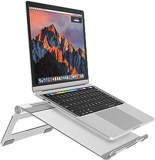 Nulaxy ノートパソコンスタンド ノートPCスタンド ひざ上テーブル pc台 アルミ製 7~17インチ対応 角度調整可能 冷却Macbook/iPad//Sony/Lenova/Samsung/ラップトップなどに対応 銀