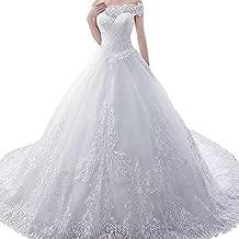 Shirleyle-CLOWD Women's Wedding Dress Trailing Wedding Bridal Wedding Dress Pregnant Women Princess Wedding Wedding Large Size Ball Gowns Evening Dress (Size : US 16)