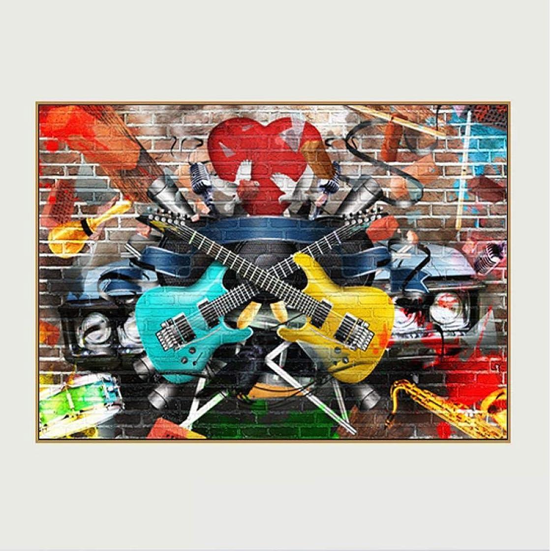 おじいちゃんマラソンベッツィトロットウッドkldfig アートバックストリートミュージックウォールアート写真ギターキャンバス絵画用リビングルームポスター印刷抽象アート-50 * 70センチ非フレーム